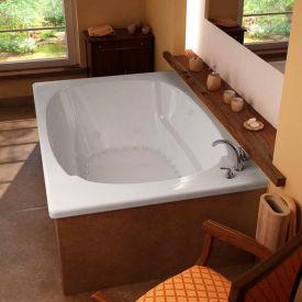 Atlantis Whirlpools Charleston Rectangular Air & Whirlpool Bathtub, 48 x 78, Center Drain, White