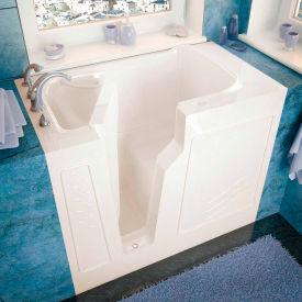 Spa World Venzi Rectangular Soaking Walk-In Bathtub, 26x46, Left Drain, Biscuit