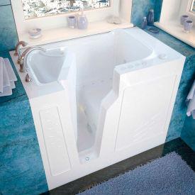 Spa World Venzi Rectangular Air & Whirlpool Walk-In Bathtub, 26x46, Left Drain, White