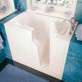 Spa World Venzi Rectangular Soaking Walk-In Bathtub, 26x46, Right Drain, Biscuit