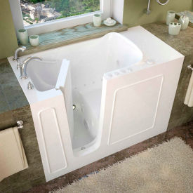 Spa World Venzi Rectangular Air & Whirlpool Walk-In Bathtub, 26x53, Left Drain, White