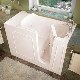 Spa World Venzi Rectangular Air & Whirlpool Walk-In Bathtub, 26x53, Right Drain, Biscuit