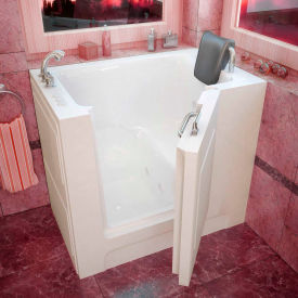 Spa World Venzi Rectangular Whirlpool Walk-In Bathtub, 27x39, Left Drain, White