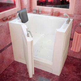 Spa World Venzi Rectangular Air & Whirlpool Walk-In Bathtub, 27x39, Right Drain, White