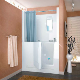 Spa World Venzi Rectangular Soaking Walk-In Bathtub, 27x47, Right Drain, White