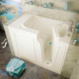 Spa World Venzi Rectangular Air & Whirlpool Walk-In Bathtub, 29x52, Left Drain, Biscuit