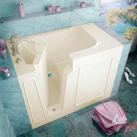 Spa World Venzi Rectangular Soaking Walk-In Bathtub, 29x52, Left Drain, Biscuit
