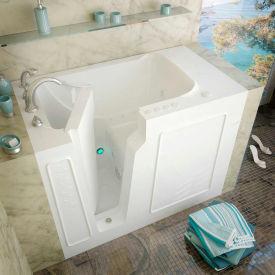 Spa World Venzi Rectangular Air & Whirlpool Walk-In Bathtub, 29x52, Left Drain, White