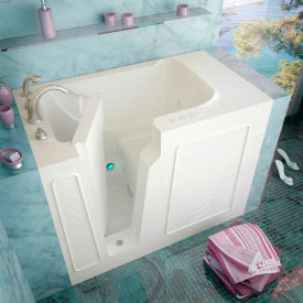 Spa World Venzi Rectangular Whirlpool Walk-In Bathtub, 29x52, Left Drain, White