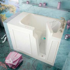 Spa World Venzi Rectangular Whirlpool Walk-In Bathtub, 29x52, Right Drain, White