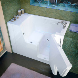 Spa World Venzi Rectangular Soaking Walk-In ADA Bathtub, 29x53, Right Drain, White