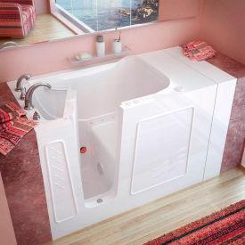 Spa World Venzi Rectangular Air Jetted Walk-In Bathtub, 30x53, Left Drain, White