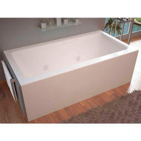 Spa World Venzi Madre Rectangular Whirlpool Bathtub, 30x60, Right Drain, White
