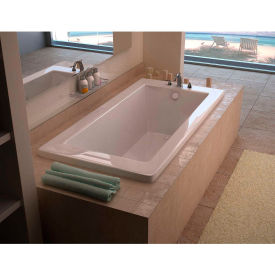 Spa World Venzi Villa Rectangular Soaking Bathtub Bathtub, 30x60, Reversible Drain, White