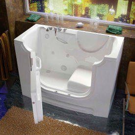Spa World Venzi Rectangular Whirlpool Walk-In ADA Bathtub, 30x60, Left Drain, White