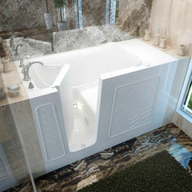 Spa World Venzi Rectangular Air Jetted Walk-In Bathtub, 30x60, Left Drain, White