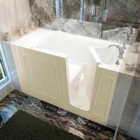 Spa World Venzi Rectangular Air & Whirlpool Walk-In Bathtub, 30x60, Right Drain, Biscuit