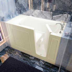 Spa World Venzi Rectangular Whirlpool Walk-In Bathtub, 30x60, Right Drain, Biscuit