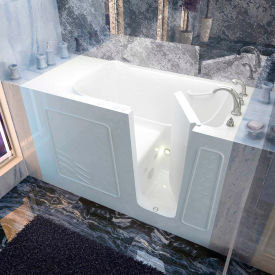 Spa World Venzi Rectangular Whirlpool Walk-In Bathtub, 30x60, Right Drain, White