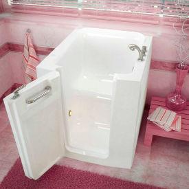 Spa World Venzi Rectangular Soaking Walk-In Bathtub, 32x38, Offset Drain, White
