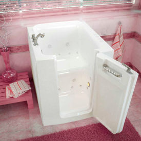 Spa World Venzi Rectangular Air & Whirlpool Walk-In Bathtub, 32x38, Offset Drain, White