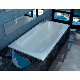 Spa World Venzi Aesis Rectangular Soaking Bathtub Bathtub, 32x60, Reversible Drain, White