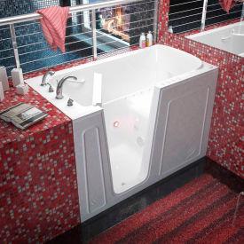 Spa World Venzi Rectangular Air & Whirlpool Walk-In Bathtub, 32x60, Left Drain, White