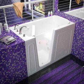 Spa World Venzi Rectangular Whirlpool Walk-In Bathtub, 32x60, Left Drain, White