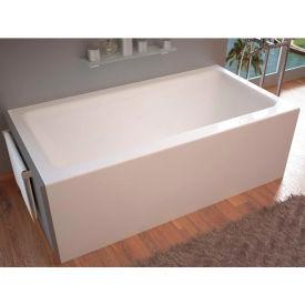 Spa World Venzi Madre Rectangular Soaking Bathtub Bathtub, 32x60, Right Drain, White