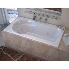 Spa World Venzi Elda Rectangular Whirlpool Bathtub, 32x60, Right Drain, White