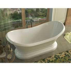 Spa World Venzi Midas Oval Soaking Bathtub Bathtub, 34x71, Center Drain, White