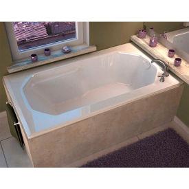 Spa World Venzi Irma Rectangular Soaking Bathtub Bathtub, 36x60, Reversible Drain, White
