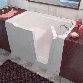 Spa World Venzi Rectangular Air Jetted Walk-In Bathtub, 36x60, Right Drain, White