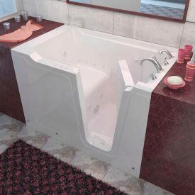 Spa World Venzi Rectangular Air & Whirlpool Walk-In Bathtub, 36x60, Right Drain, White
