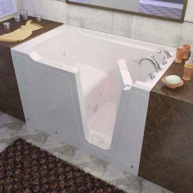 Spa World Venzi Rectangular Whirlpool Walk-In Bathtub, 36x60, Right Drain, White