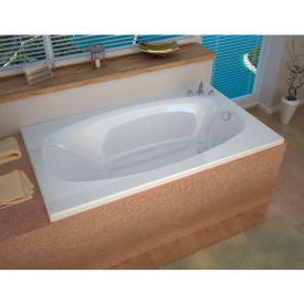Spa World Venzi Talia Rectangular Soaking Bathtub Bathtub, 36x72, Reversible Drain, White