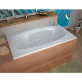 Spa World Venzi Grand Tour Talia Rectangular Air & Whirlpool Bathtub, 42x66, Right Drain, White