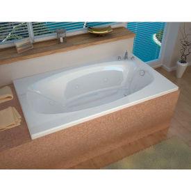 Spa World Venzi Talia Rectangular Whirlpool Bathtub, 42x66, Right Drain, White