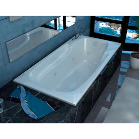Spa World Venzi Aesis Rectangular Air & Whirlpool Bathtub, 42x72, Left Drain, White