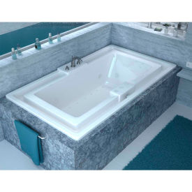 Spa World Venzi Celio Rectangular Air & Whirlpool Bathtub, 46x78, Center Drain, White