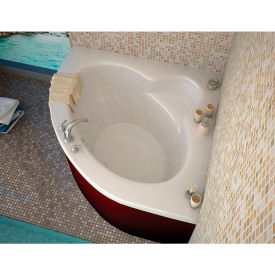 Spa World Venzi Esta Corner Soaking Bathtub Bathtub, 60x60, Center Drain, White
