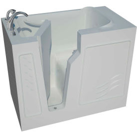 Spa World Venzi Artisan Rectangular Soaking Walk-In Bathtub, 26x46, Left Drain, White