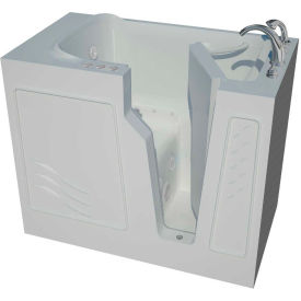 Spa World Venzi Artisan Rectangular Air & Whirlpool Walk-In Bathtub, 26x46, Right Drain, White