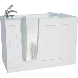 Spa World Venzi Artisan Rectangular Air & Whirlpool Walk-In Bathtub, 26x53, Left Drain, White