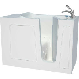 Spa World Venzi Artisan Rectangular Air & Whirlpool Walk-In Bathtub, 26x53, Right Drain, White