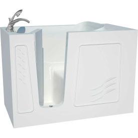 Spa World Venzi Artisan Rectangular Walk-In Bathtub, 30x53, Left Drain, White