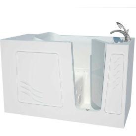 Spa World Venzi Artisan Rectangular Air & Whirlpool Walk-In Bathtub, 30x60, Right Drain, White