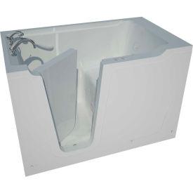 Spa World Venzi Artisan Rectangular Soaking Walk-In Bathtub, 36x60, Left Drain, White