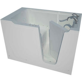 Spa World Venzi Artisan Rectangular Air & Whirlpool Walk-In Bathtub, 36x60, Right Drain, White