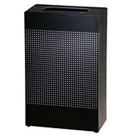 Rubbermaid® Silhouette SR14E Rectangular Open Top Receptacle w/Plastic Liner, 13 Gallon - Black